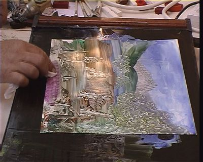 Hotplate use for creating landscapes in encaustic art wax for Wax landscape